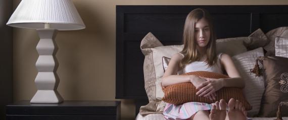 Young girl breaking virginity